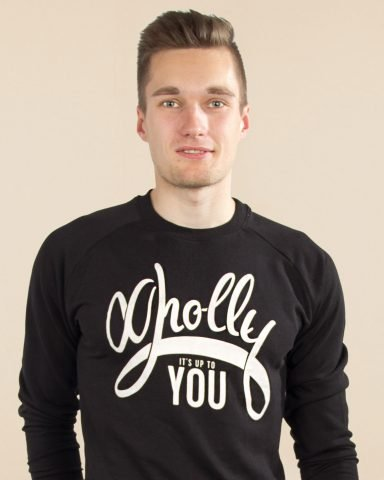 Whollyyou Its up to You Sweatshirt in Schwarz für Männer