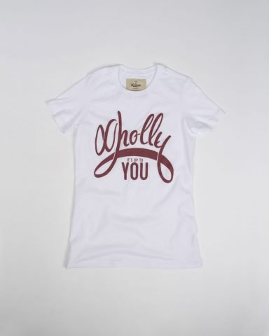 Whollyyou Its up to You T-Shirt in Weiß für Frauen