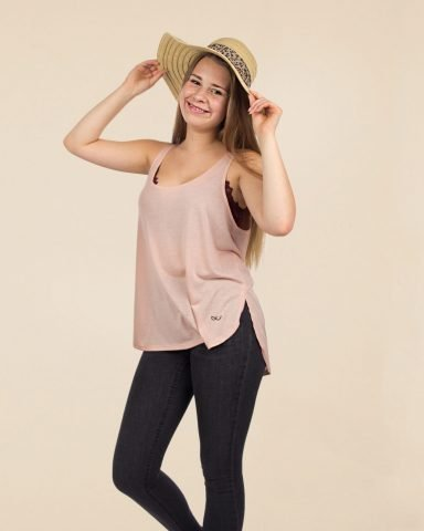 Whollyyou Milan Top in Peach für Frauen