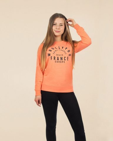 Whollyyou Saint Tropez Sweatshirt in Coral für Frauen