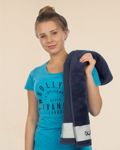 Whollyyou Saint Tropez T-shirt in Blau für Frauen