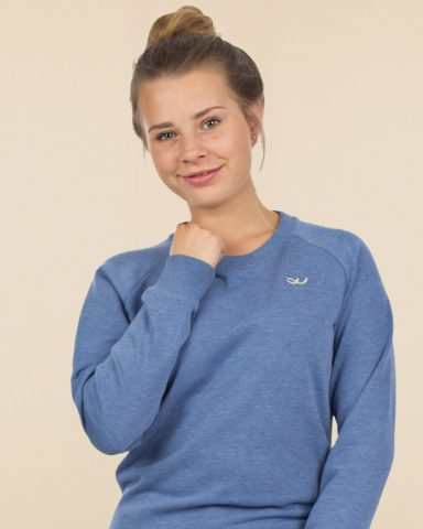 Whollyyou Waves Sweatshirt in Blau für Frauen