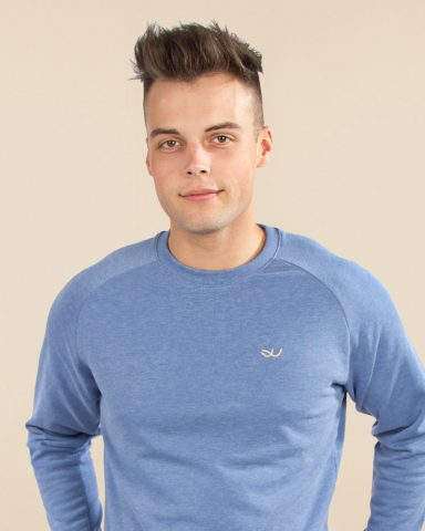 Whollyyou Waves Sweatshirt in Blau für Männer