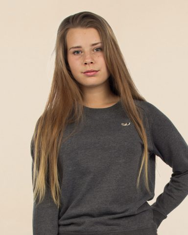 Whollyyou Waves Sweatshirt in Grau für Frauen