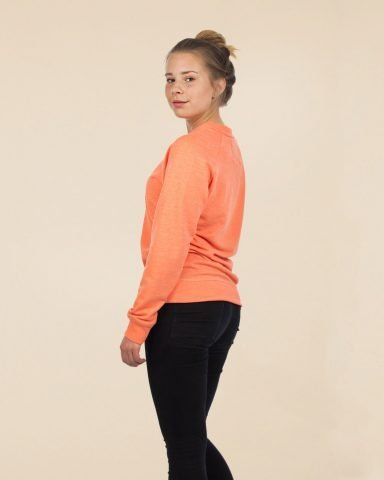 Whollyyou Waves Sweatshirt in Coral für Frauen