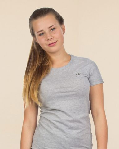 Whollyyou Waves T-Shirt in Grau für Frauen