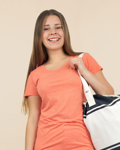 Whollyyou Waves T-Shirt in Orange für Frauen
