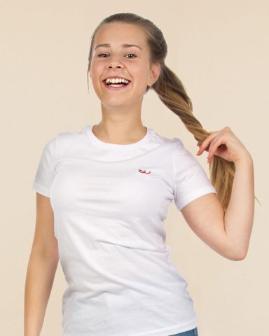 Whollyyou Waves T-Shirt in Weiß für Frauen
