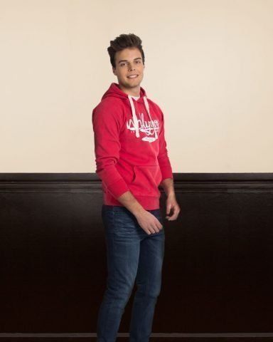 Whollyyou Classic Hoodie in Rot für Männer