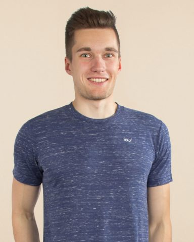 Whollyyou Embroidered T-Shirt in Blau für Männer