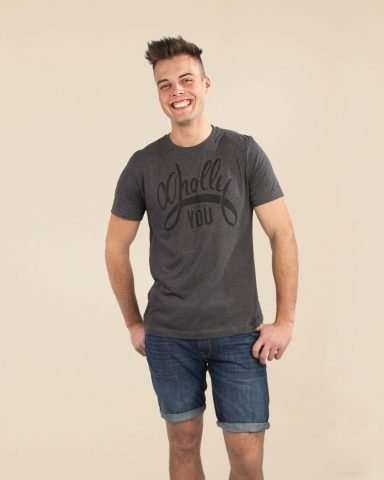 Whollyyou Its up to you T-Shirt für Männer in Grau