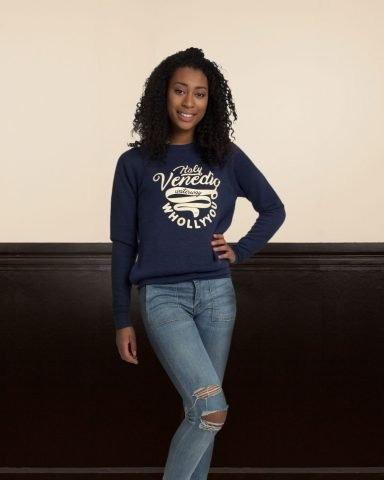 Whollyyou Venedig Sweatshirt in Blau für Frauen