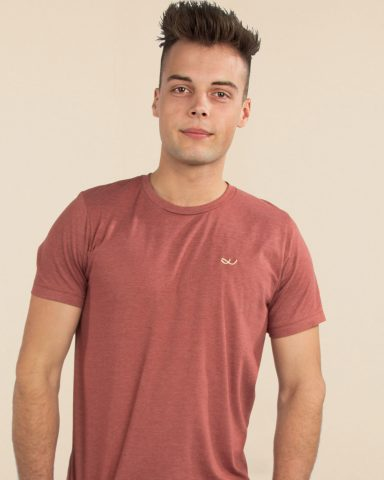 Whollyyou Waves T-Shirt für Männer in Clay