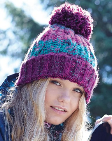 Whollyyou Wien Bommel Beanie in Sweet Red